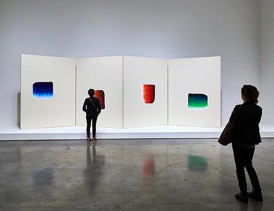 Sept. 22, 2018, 2018 - New York, NY Chelsea Art Galleries -  Lee Ufan    Photographer- Robert Altman Post-production- Robert Altman