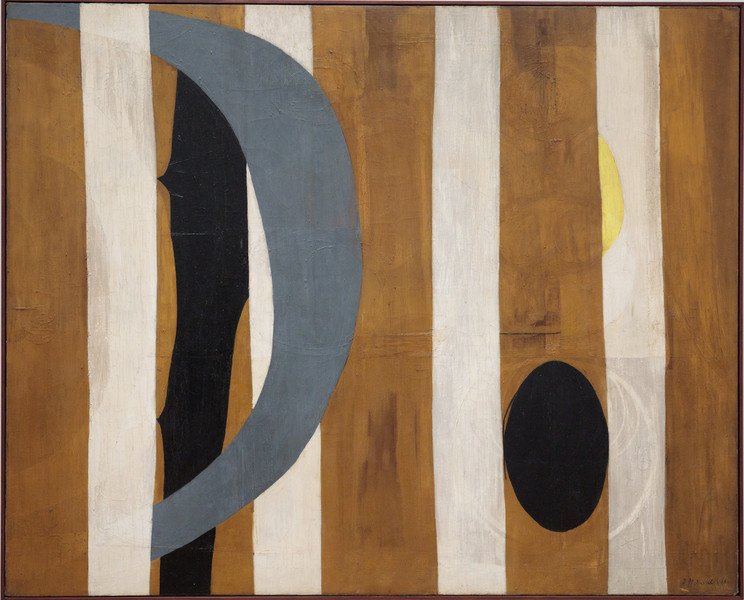 Robert Motherwell, Wall Painting with Stripes, 1944