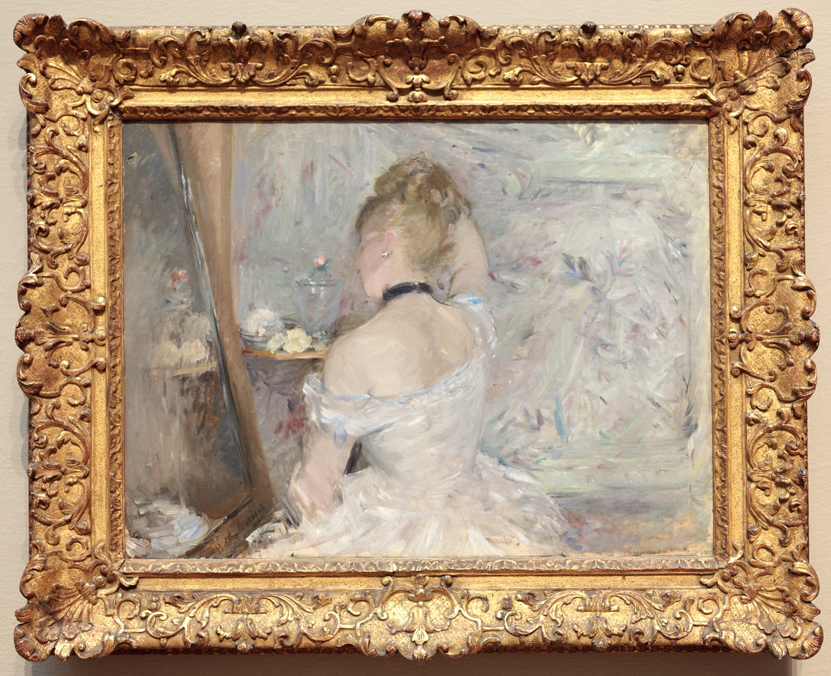 Berthe Morisot, woman at Her Toilette, 1875/80 (female artist)