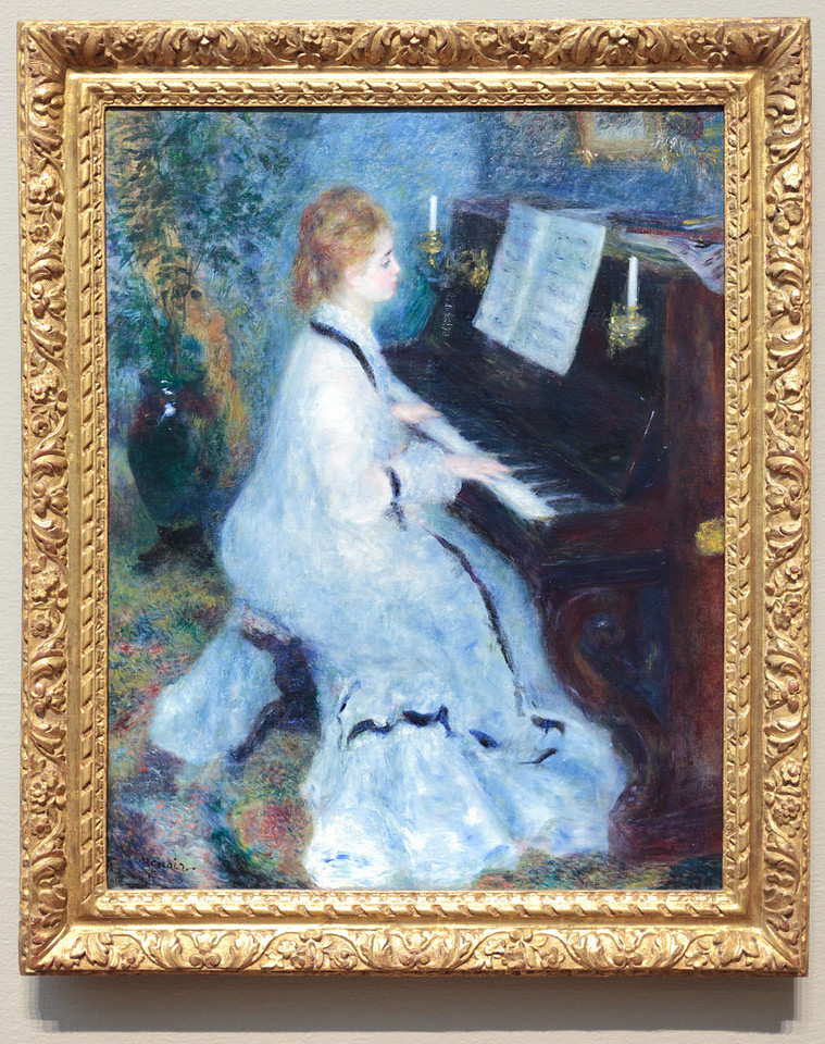 Pierre-Auguste Renoir, Woman at the PIano, 1875/6