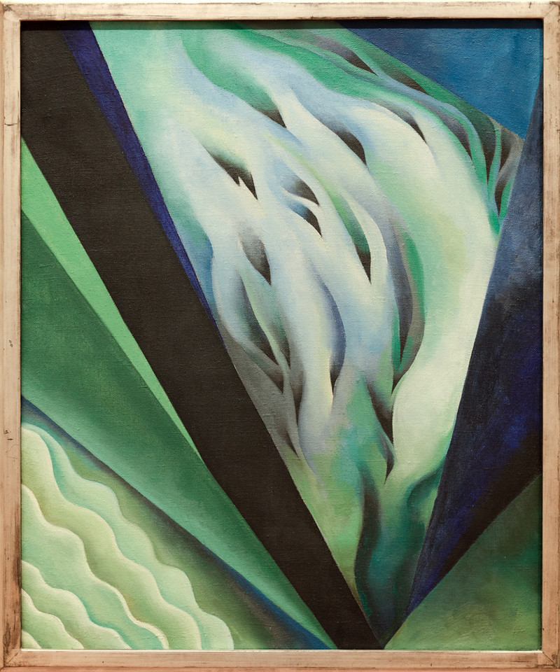 Georgia O'Keefe,Blue and Green Music, 1921