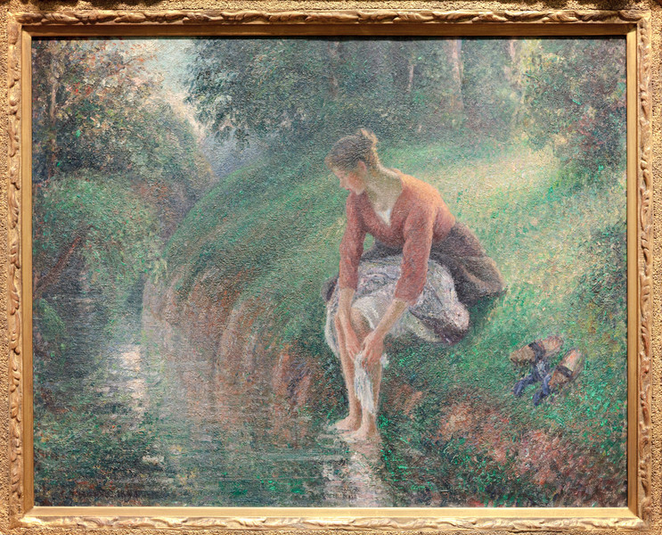 Camille Pissarro Woman Bathing her Feet in a Brook, 1894/95