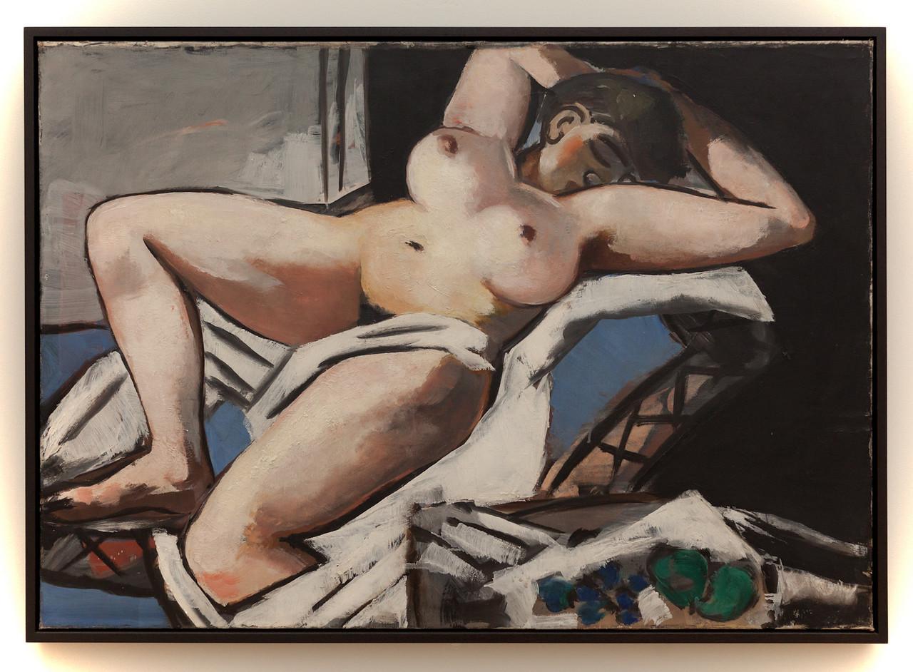 Max Beckmann, Reclining Nude, 1929