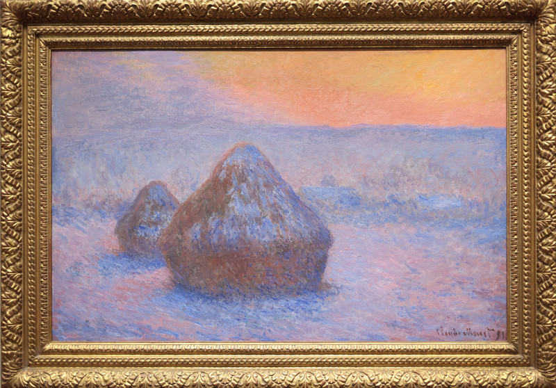 Claude Monet, Stacks of Wheat (Sunset, Snow Effect), 1890/91