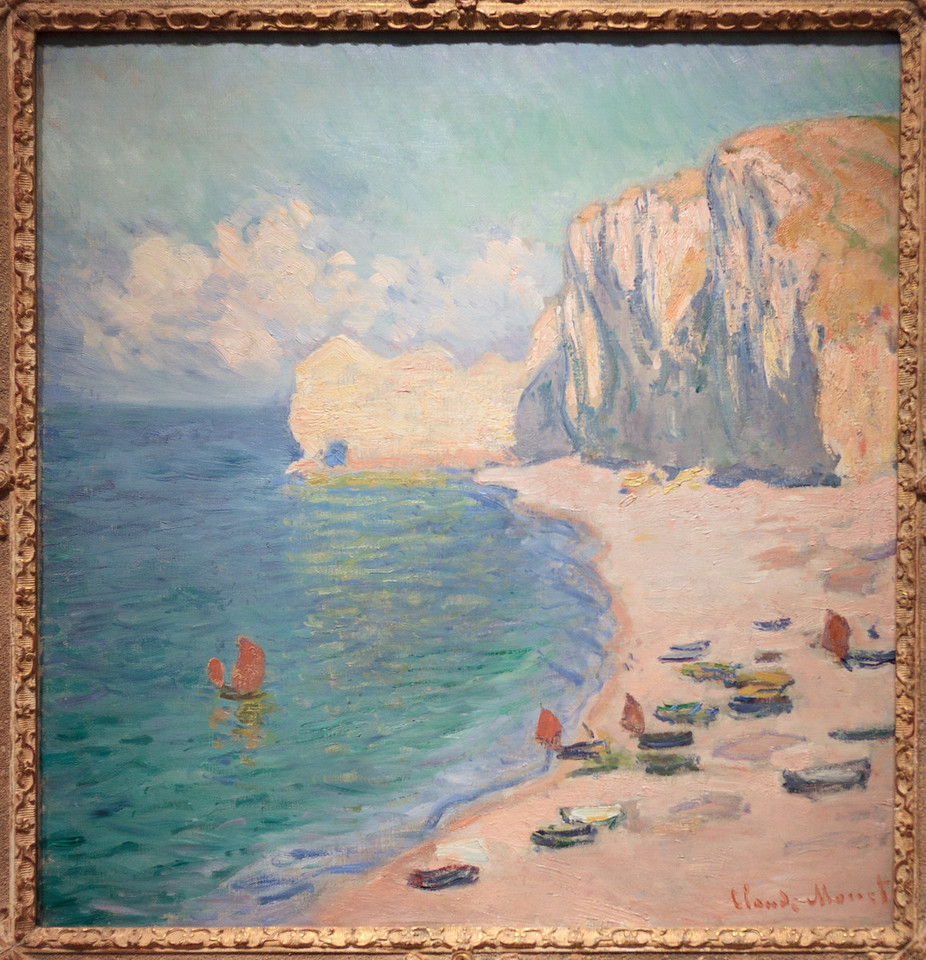Claude Monet, Étretat: The Beach and the Falaise d'Amont, 1885