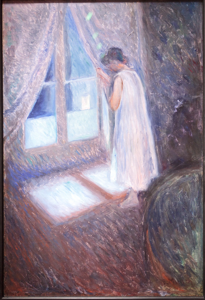 Edvard Munch, Girl Looking out the Window, c. 1892
