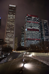 chicago , windy city. chicago bean,el train,city