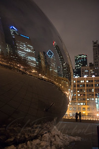 chicago , windy city. chicago bean,el train,city