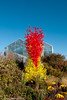 Chihuly Glass Tower, red and 'citron green'