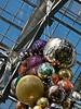 Top of cluster of balls.<br /> <br /> Dale Chihuly, artist.<br /> <br /> Conservatory, Frederik Meijer Gardens and Sculpture Park,<br /> Grand Rapids, Michigan.<br /> October 7, 2010.