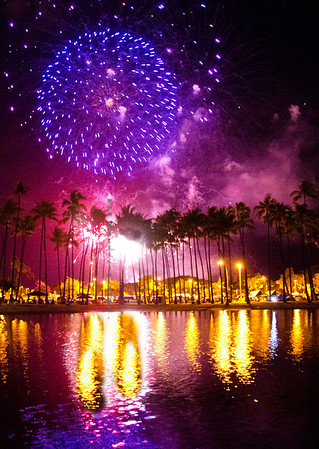 fireworks purple & pond 0712 9394
