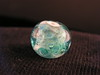 Blue and green Fractal Swirl lampwork bead.