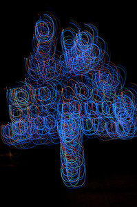 38 Christmas Light Art 2011