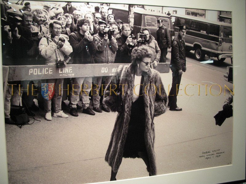 Raquel Welch at Andy Warhols funeral, St. Patrick's Cathedral