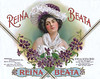Reina Beata cigar label sample by American Lithographic. Rare.