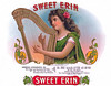 Sweet Erin cigar label sample by American Lithographic. Rare.