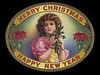 Merry Christmas Happy New Year oval by Schmidt.