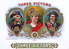 Three Victors cigar label sample by American Lithographic.  Rare.