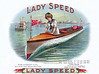 Lady Speed cigar label sample by Schmidt. Rare.