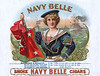 Navy Belle cigar label sample by Schumacher & Elllinger.  Rare.