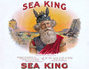 Sea King cigar label sample by American Lithographic. Rare.