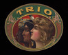 Trio oval.  The only one known.