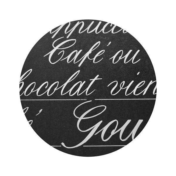 Paris café chalkboard