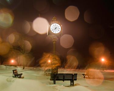 st clair city clock -pure michigan