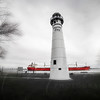 Marine City Photography  Light House , Freighter