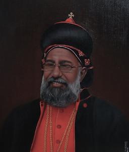 Cardinal Moran Mar Baselios Cleemis Thottunkal-Oil painting