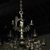 chandelier in the Merode Room; late medieval furninshings