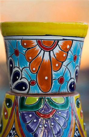 painted ceramic flower pot