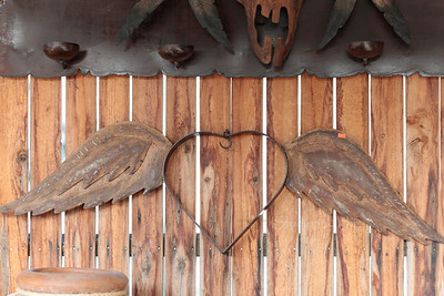 copper wings on heart in Cave creek