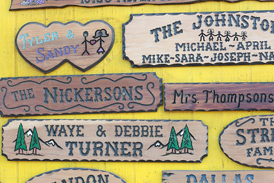 wood carved signs
