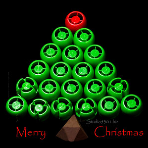 Bottle top merry christmas card 6137