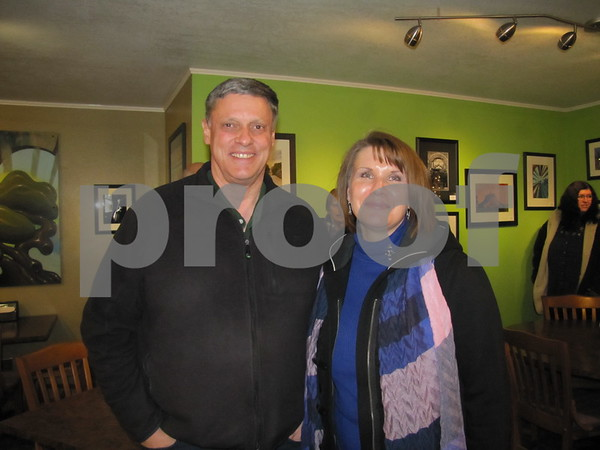 Kim and Sharka Alstott attended the photo exhibit for Bob Wood at Central Perk.