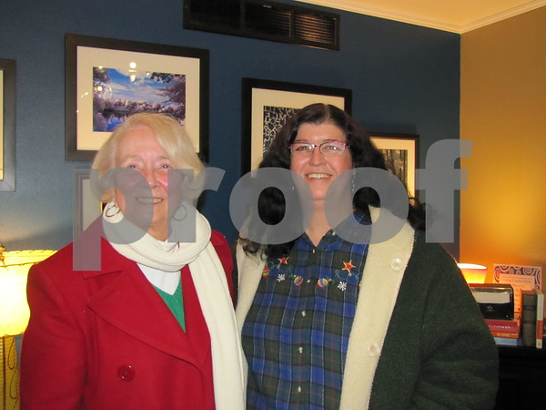 Barb O'Connor and Dee Schnurr attended the photo exhibit for Bob Wood at Central Perk.
