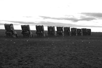 Cold Day at the Cadillac Ranch