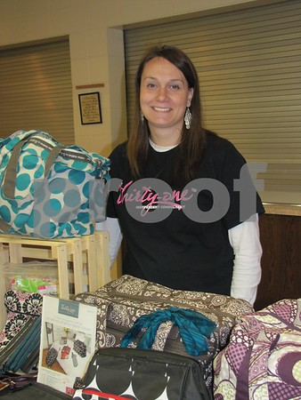 Cheri Beckley, Thirty-One Consultant was there with a large variety of bags by Thirty-One.