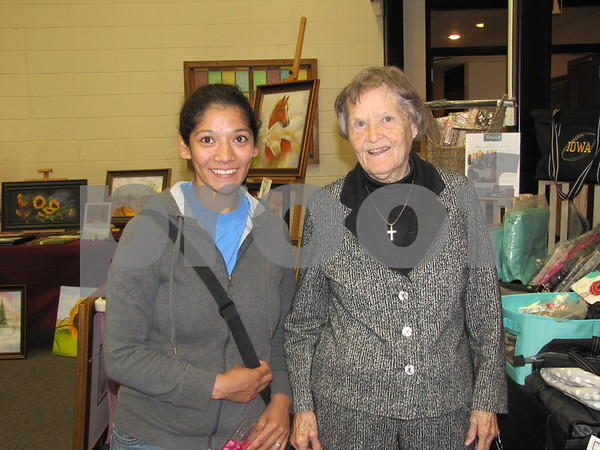 Ana Sparks and Dorothy Zehr attended the Community Artist Sale at St. Olaf Lutheran Church.