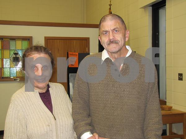 Sandra and Carmen Reinertson attended the art sale.