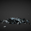 "Test rubble from Cinema 4D for ""White Flag""."