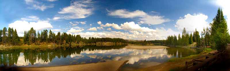 A view from Fishing Bridge Yellowstone Park WY 2009