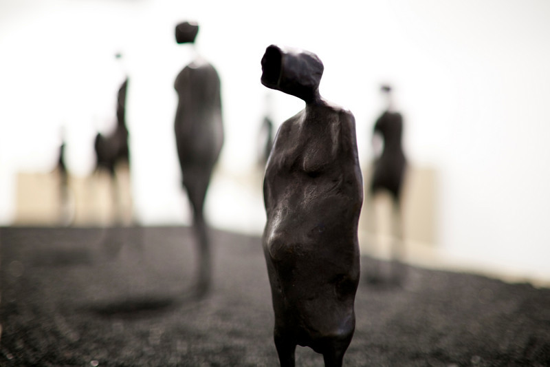 Bronze sculpture by the Dutch artist Cornelis Zitman (born in 1926), exhibited in Santa Ines gallery, Seville, Andalusia, Spain
