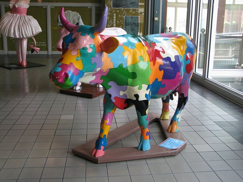 """Puzzle cow"" by Candida Bayer"