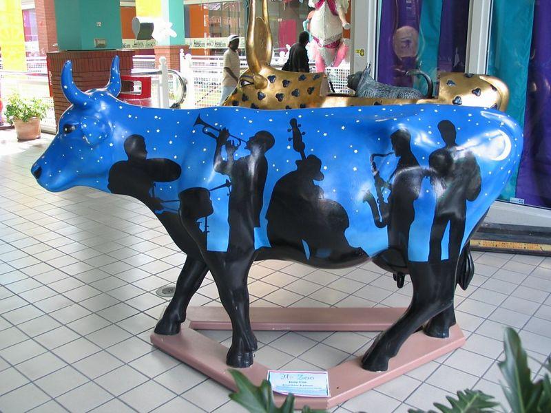 """Jazzy Cow"" by Sara B. Johnson"