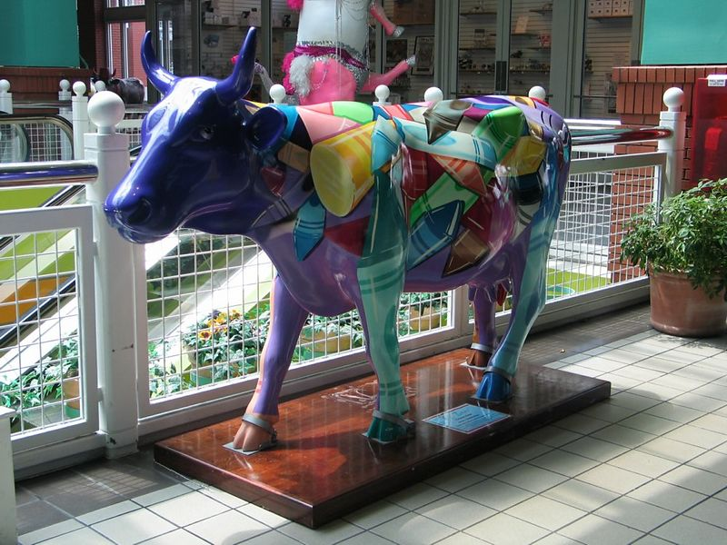 """Crayon Cow"" by Candida Bayer"