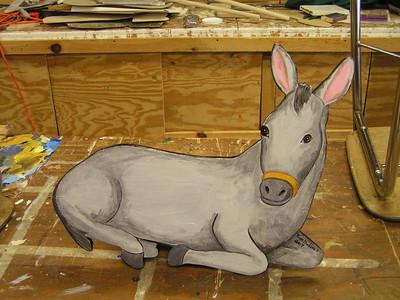 manger figures, the donkey