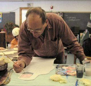 1 working on the Joseph figure, feb 15, 2007