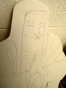 Joseph sketched on plywood , feb 15, 2007